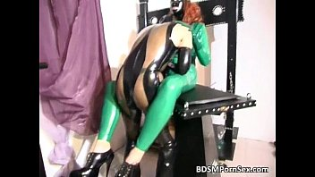 latex fetish anal boot whipped White girl tied up in high heels
