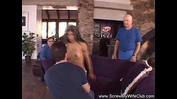 of hubby in milf fucked front uk Stranger joins couple in the woods10